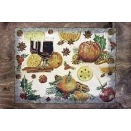 Столик для завтрака в постель «Русская берёза», «Зимние фрукты»